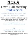 NCLA Town Hall Civil Service Meeting