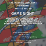 Emerging Librarians & Pop Culture Committee's GAME NIGHT