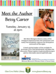 Meet Author Betsy Carter courtesy of the Glen Cove Public Library