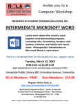 Intermediate Microsoft Word Workshop